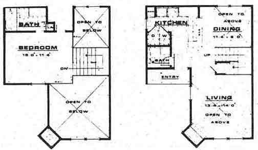 836 sq. ft. A3 floor plan