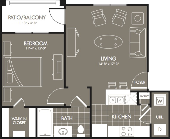 650 sq. ft. Halo floor plan