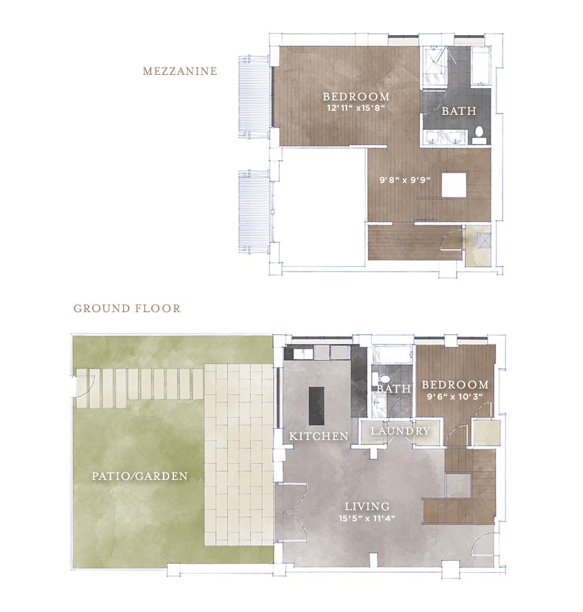 1,457 sq. ft. L4 floor plan