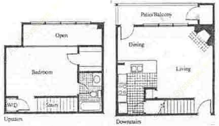 737 sq. ft. A5 floor plan
