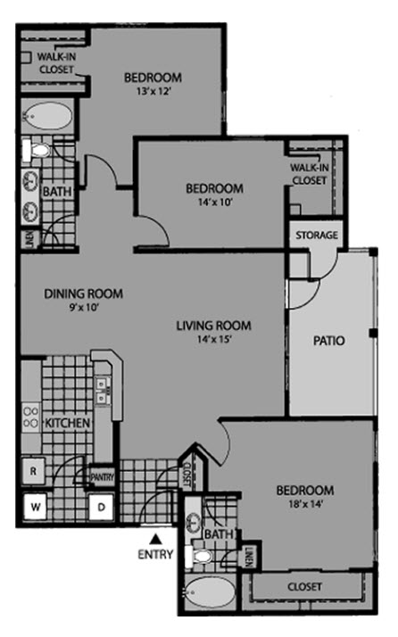 1,308 sq. ft. Legacy floor plan