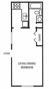 432 sq. ft. floor plan