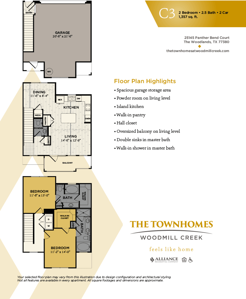 1,357 sq. ft. floor plan