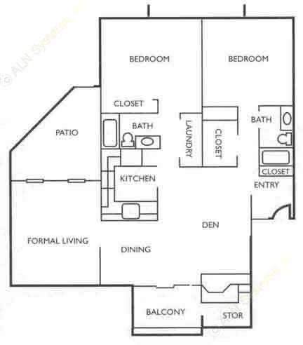 1,423 sq. ft. C2G floor plan
