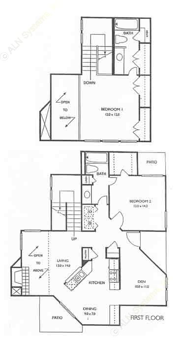 1,250 sq. ft. Greenwich floor plan