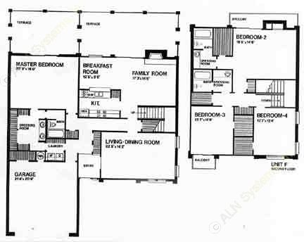 2,800 sq. ft. F floor plan