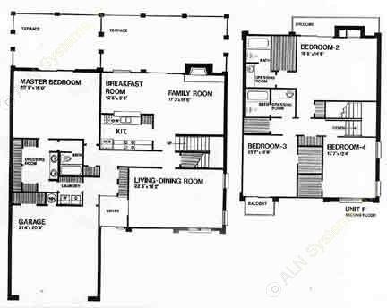 2,800 sq. ft. H floor plan