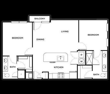 964 sq. ft. Naples floor plan