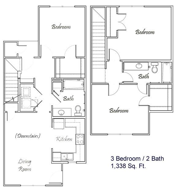 1,338 sq. ft. C2/60% floor plan