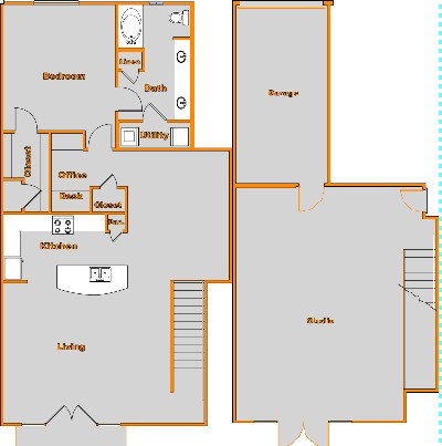 1,857 sq. ft. TH1 floor plan