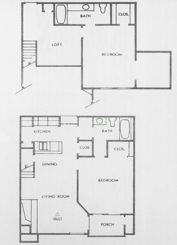 1,170 sq. ft. E2 floor plan