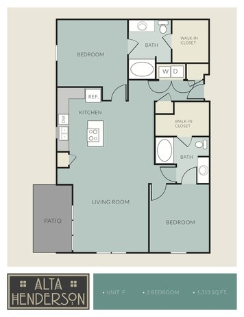 1,313 sq. ft. F floor plan