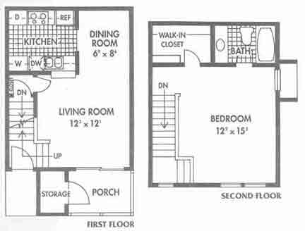 726 sq. ft. C floor plan