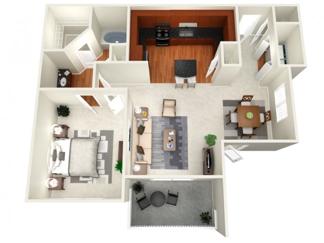 790 sq. ft. Moscow floor plan