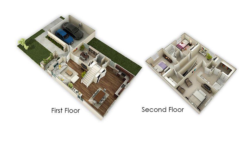 1,988 sq. ft. Juniper floor plan