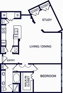 1,195 sq. ft. Mallorca floor plan