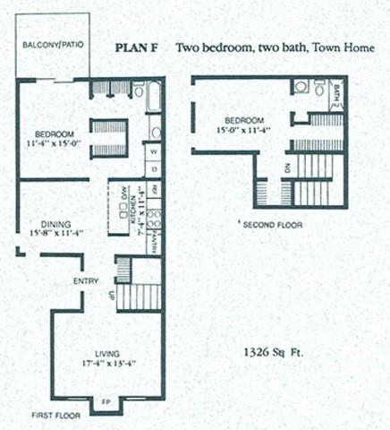 1,326 sq. ft. F4 floor plan