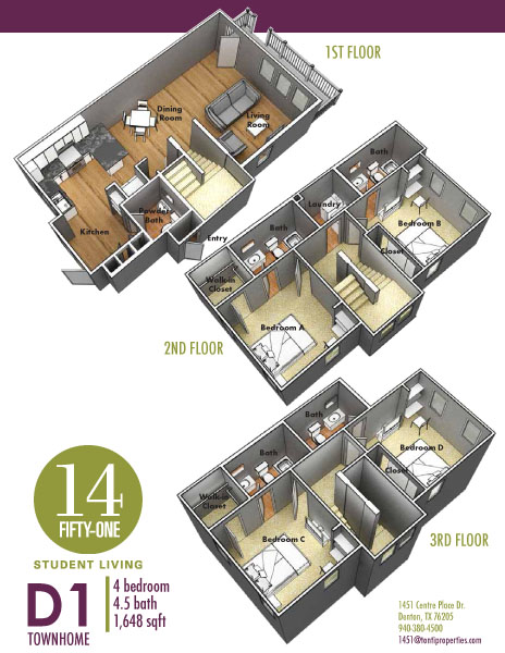 1,648 sq. ft. D4 floor plan
