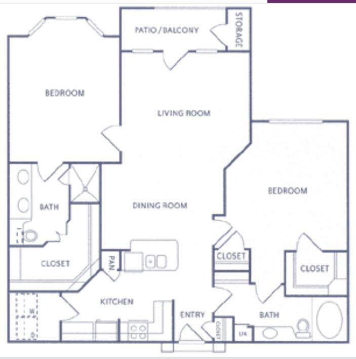 1,209 sq. ft. B1 floor plan