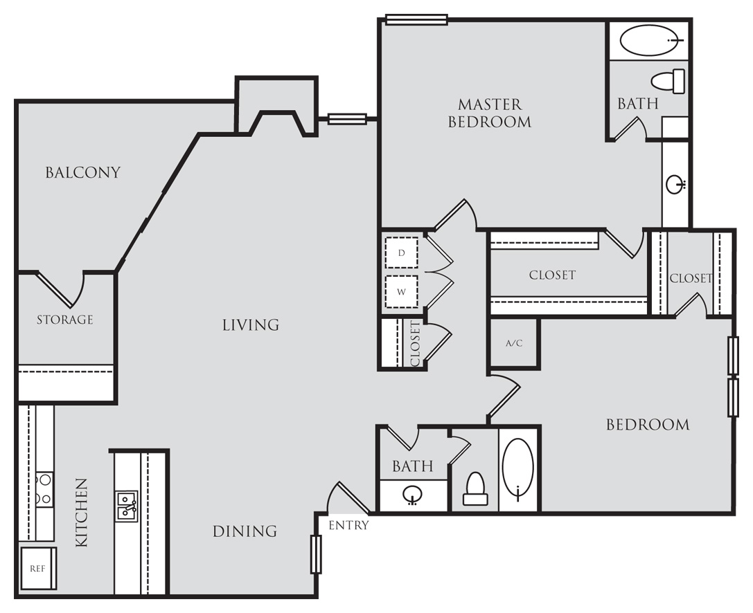 1,229 sq. ft. B3 floor plan