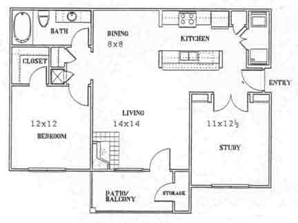 926 sq. ft. to 1,006 sq. ft. D floor plan