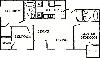 1,039 sq. ft. 50% floor plan