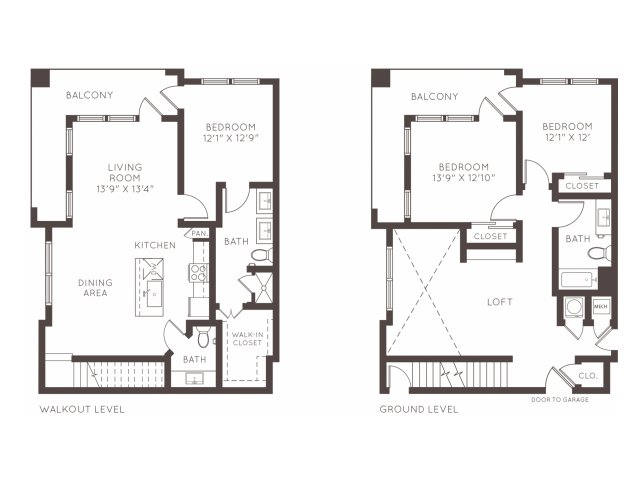 1,734 sq. ft. TH1 floor plan