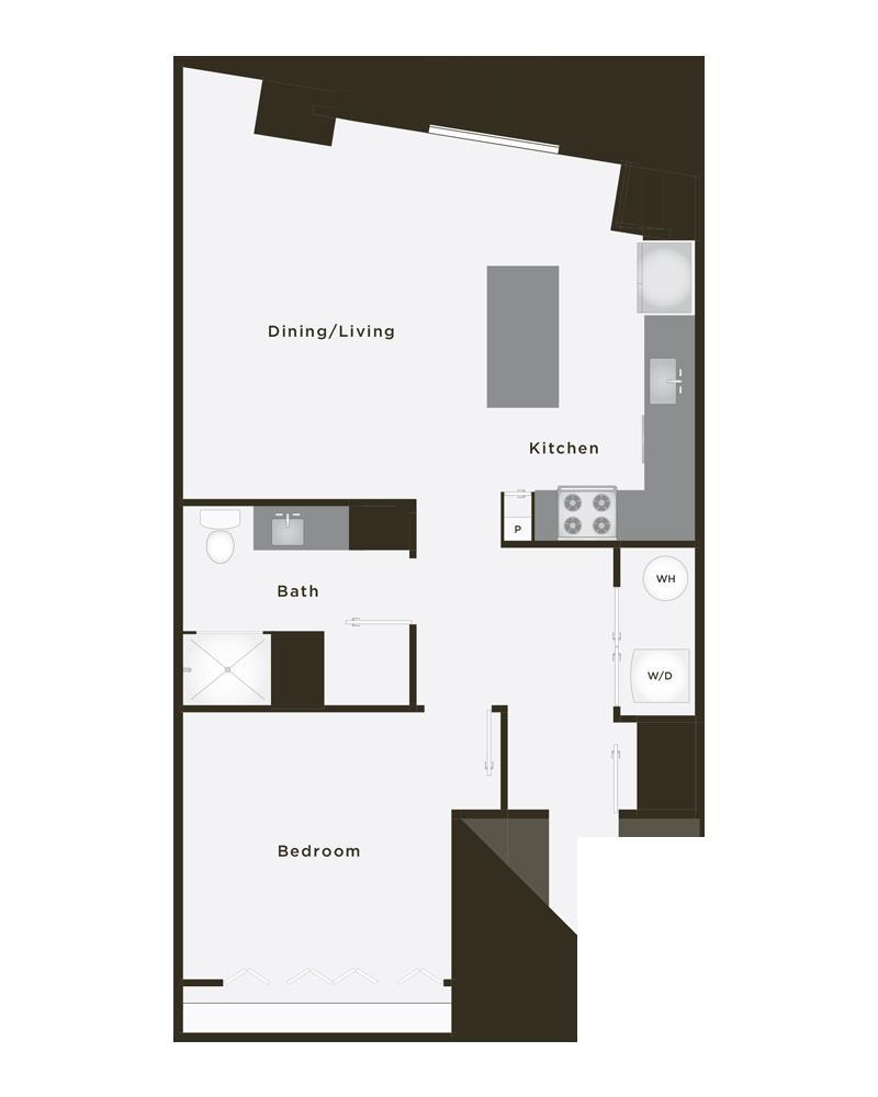 775 sq. ft. MVP floor plan