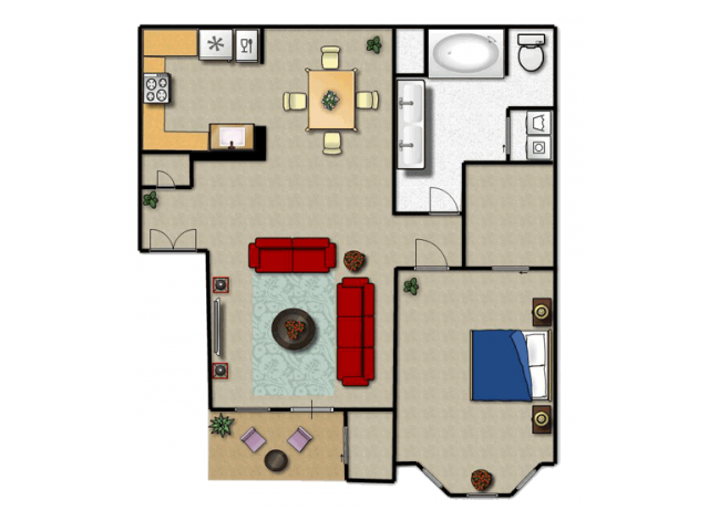 800 sq. ft. A floor plan