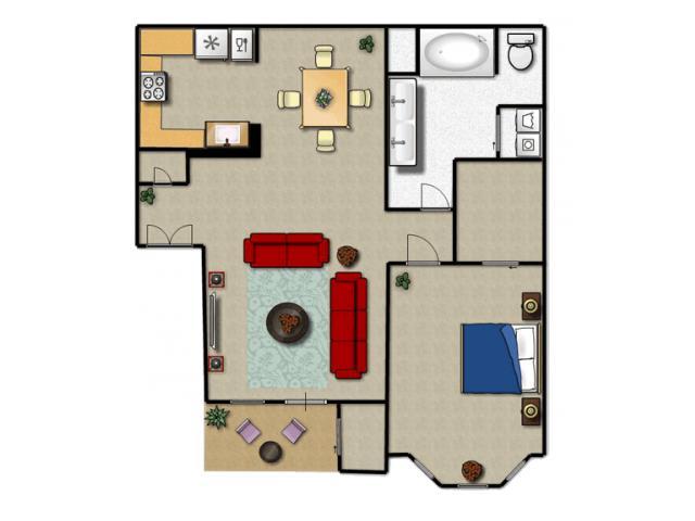 800 sq. ft. A floor plan