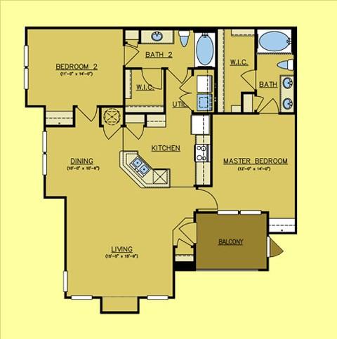 1,262 sq. ft. El Dorado floor plan