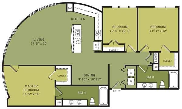 1,410 sq. ft. floor plan