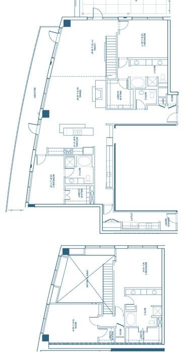 3,044 sq. ft. C3-Penthouse floor plan