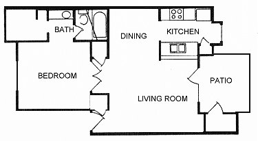 686 sq. ft. A11 floor plan