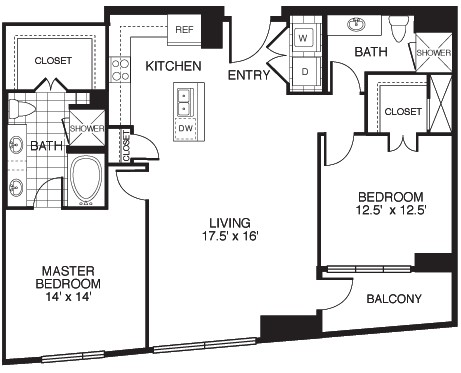 1,347 sq. ft. Integrity/Tower floor plan