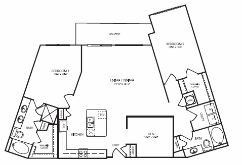 1,568 sq. ft. to 1,575 sq. ft. Willowick floor plan