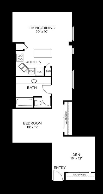 1,132 sq. ft. A13 floor plan
