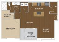 815 sq. ft. Hendrix floor plan