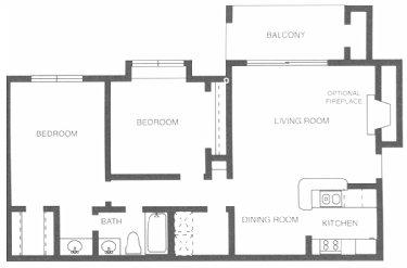 904 sq. ft. Tennessee Walker floor plan