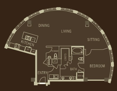 1,519 sq. ft. A17 floor plan