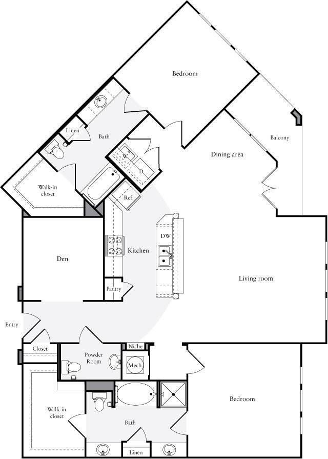 1,562 sq. ft. B11.2 floor plan