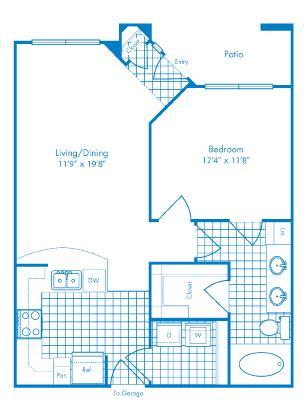 737 sq. ft. St Thomas floor plan