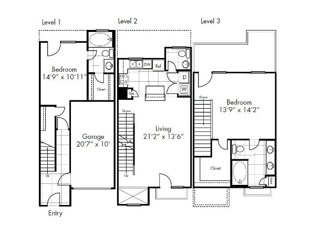 1,367 sq. ft. to 1,370 sq. ft. Luling floor plan