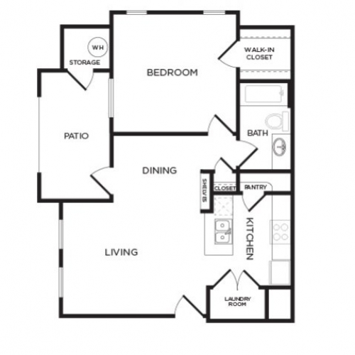 702 sq. ft. A4 floor plan