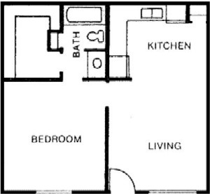 552 sq. ft. floor plan