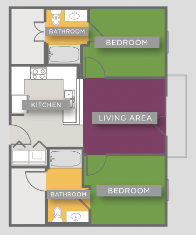 769 sq. ft. B1-ANSI floor plan