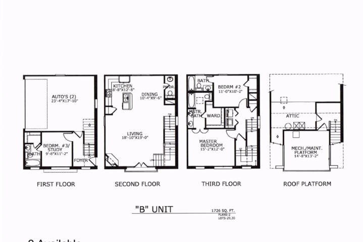 1,726 sq. ft. B floor plan