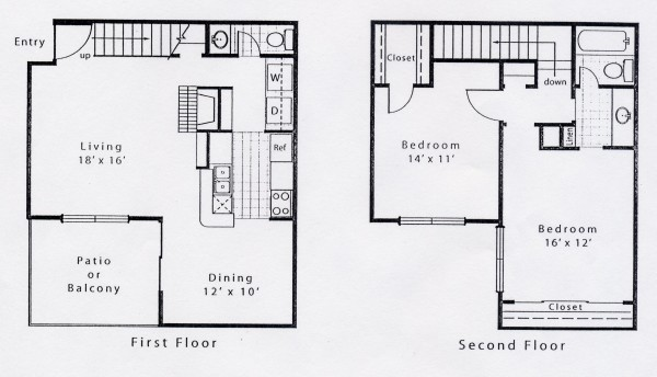 1,109 sq. ft. B1CS floor plan
