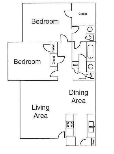 851 sq. ft. floor plan