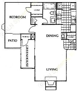 835 sq. ft. Brighton floor plan